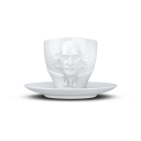 Filiżanka do kawy TALENT - Kubek porcelanowy ze spodkiem William Shakespeare biały 260 ml - TASSEN - 58Products - T801201
