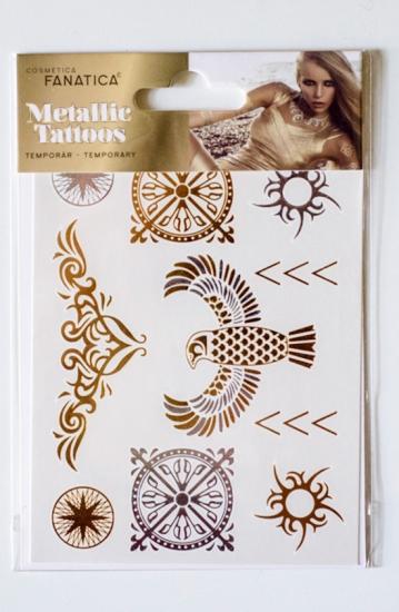 Metaliczne Tatuaże Złote Srebrne Arkusz A6 Artykuły